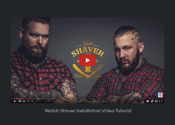 Shaver - Barbers & Hair Salon WordPress Theme
