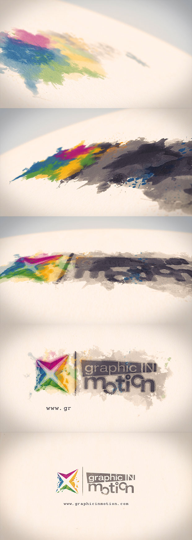 Watercolor & Ink Logo Reveal - 1