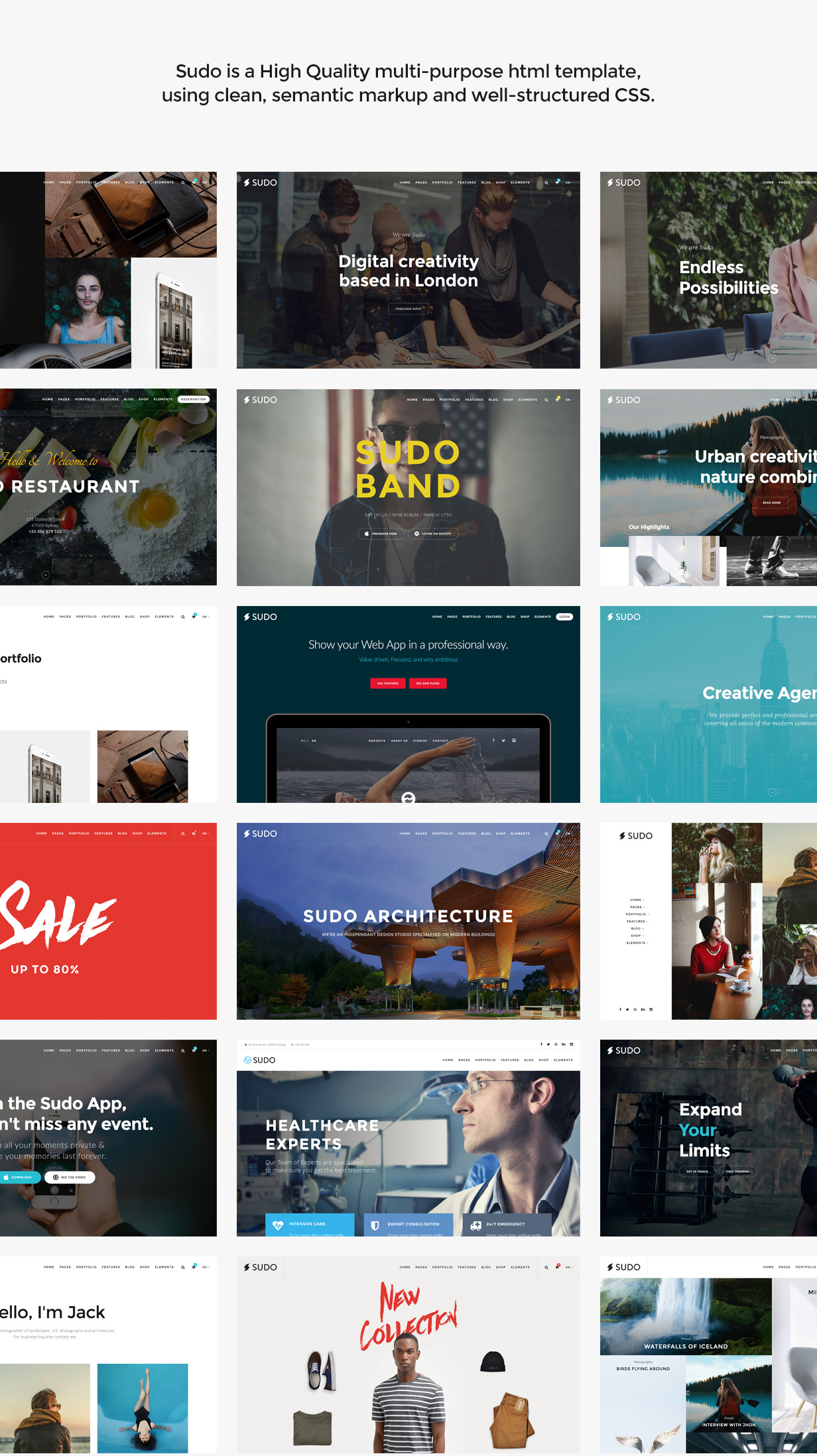 Sudo - High Quality Multipurpose HTML template by SpabRice   ThemeForest