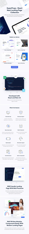 React Next - Modern React Landing Page Template - 1
