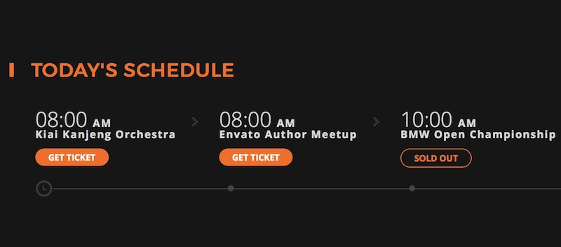 MyTicket - Event notification elements HTML5 template