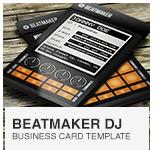 Beatmaker Digital DJ Business Card PSD template