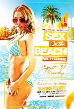 Sex On The Beach v2 Party Flyer Template
