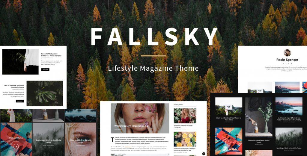 Fallsky - Lifestyle Magazine Theme with Shop