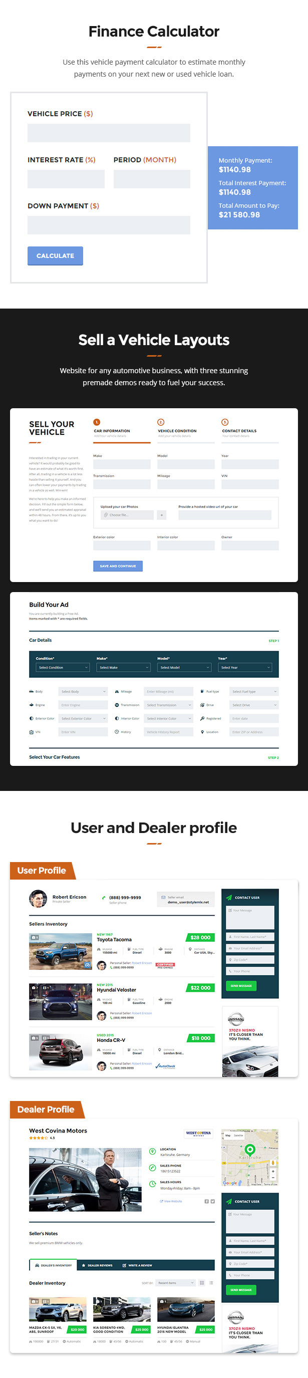Motors - Car Dealer and Rental, Classified WordPress theme - 6