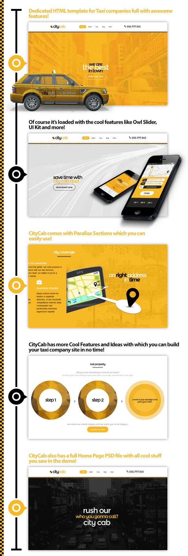 CityCab - Taxi Company Responsive HTML Template - 1
