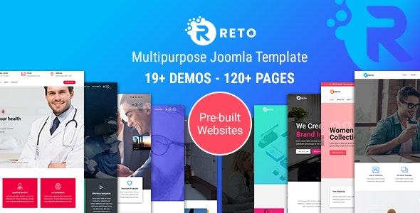 Reto - Responsive Multipurpose Joomla Theme With Page Builder - Joomla CMS Themes