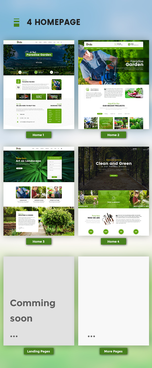 QParadise - Gardening and Landscaping WordPress Theme - 5