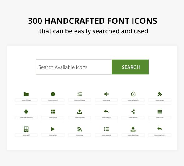 300+ custom svg icons
