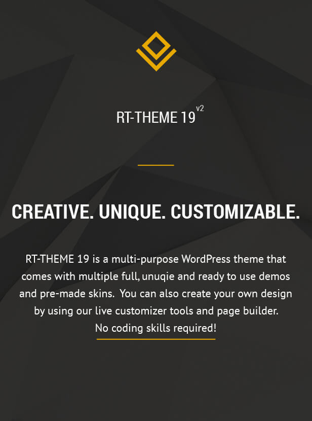 Responsive Multi-purpose Wp Theme - Rt-theme 19 Overview