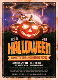 Design Cloud: Halloween Event Flyer Template