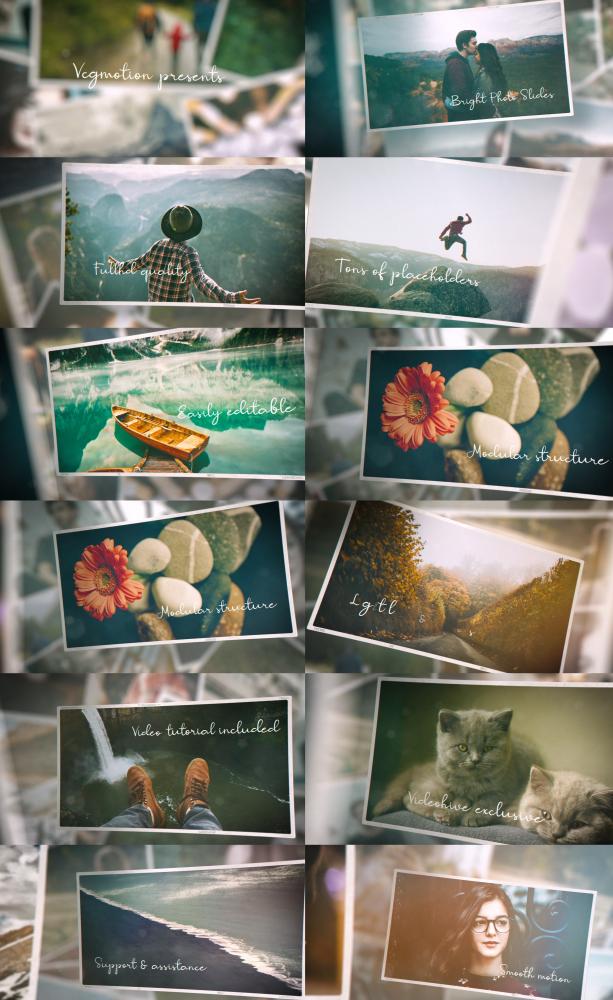 AE模板-复古回忆视频旅行剪辑浪漫婚礼幻灯片唯美粒子光效空间感展示相册