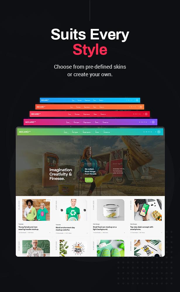 Mixano - Minimal WordPress Theme - 8