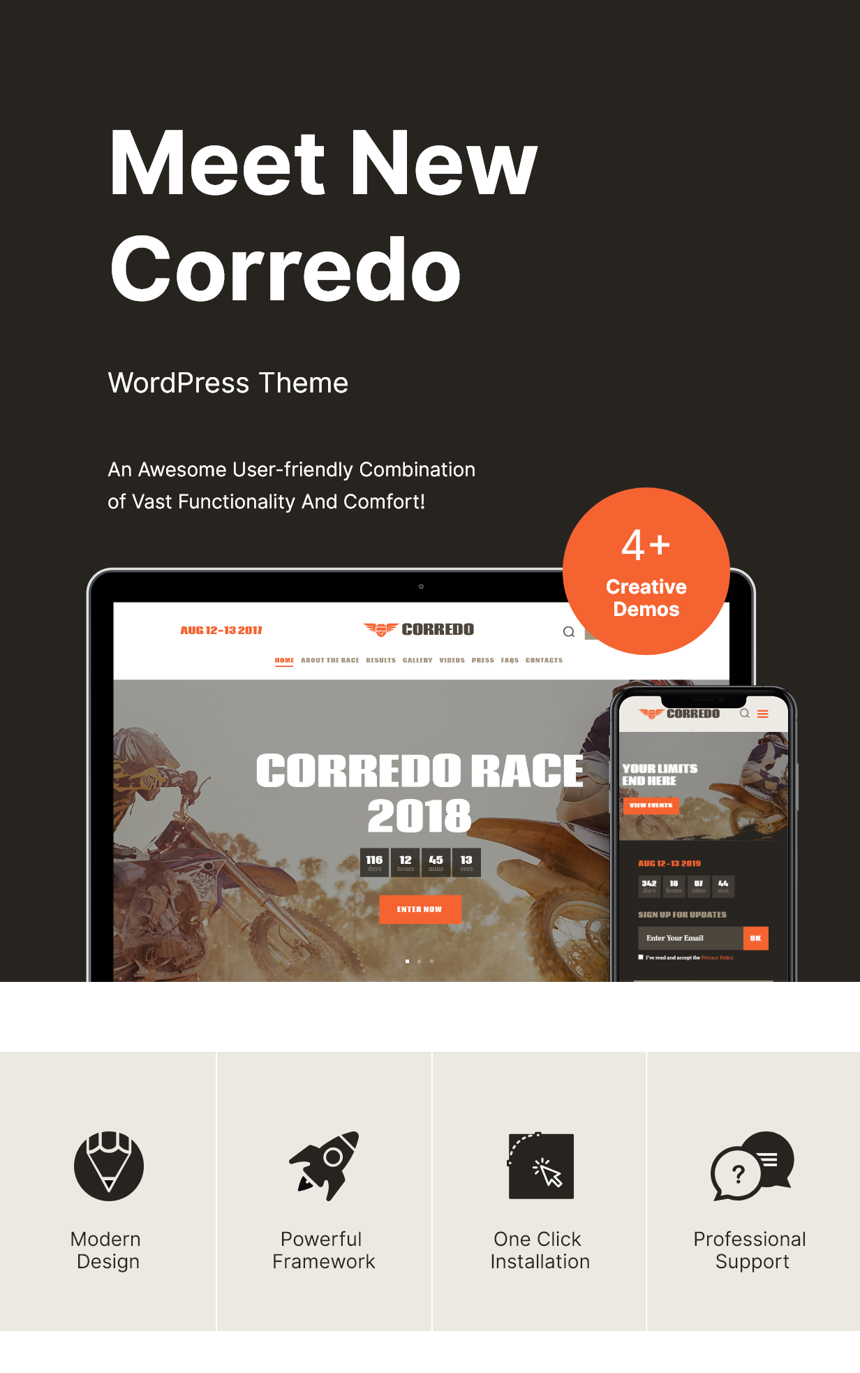 Corredo | Bike Race & Sports Events WordPress Theme - 1