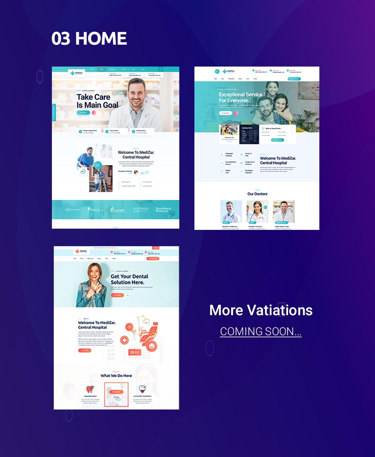 Medixer  Health & Clinic WordPress Theme - 2