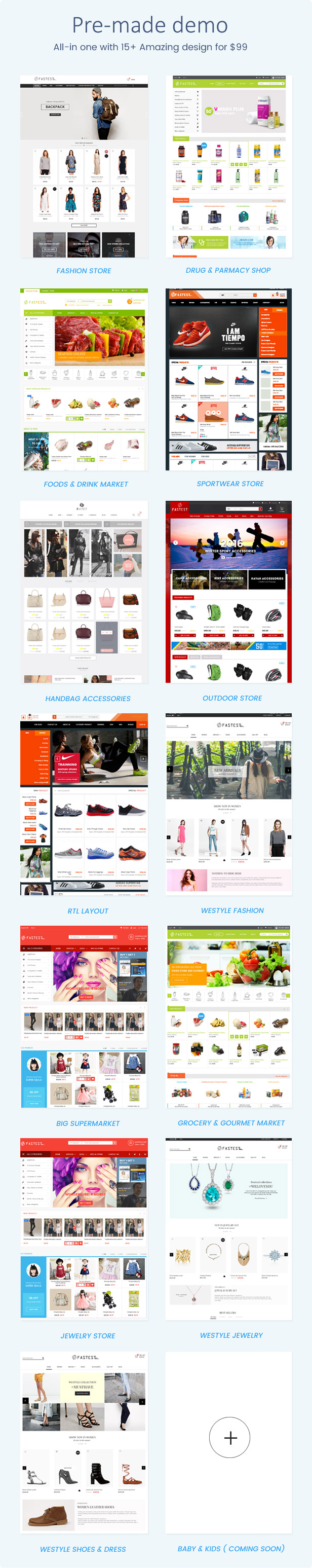 Fastest - Magento 2.2.2 themes & Magento 1. Multipurpose Responsive Theme (16 Home) Shopping,Fashion
