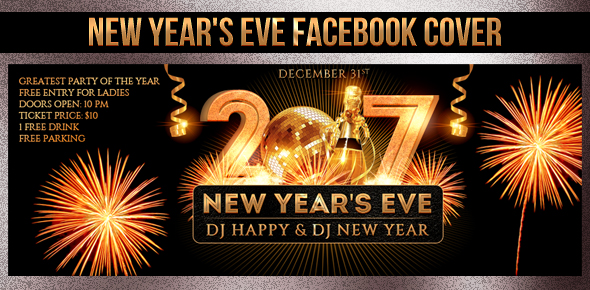 New Year Party Flyer Template - 21