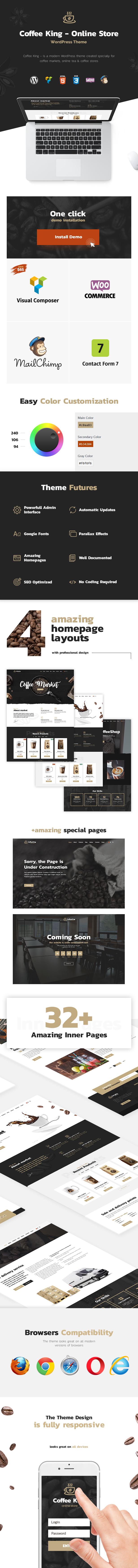 CoffeeKing - Coffee Shop & Drinks Online Store WordPress Theme - 3