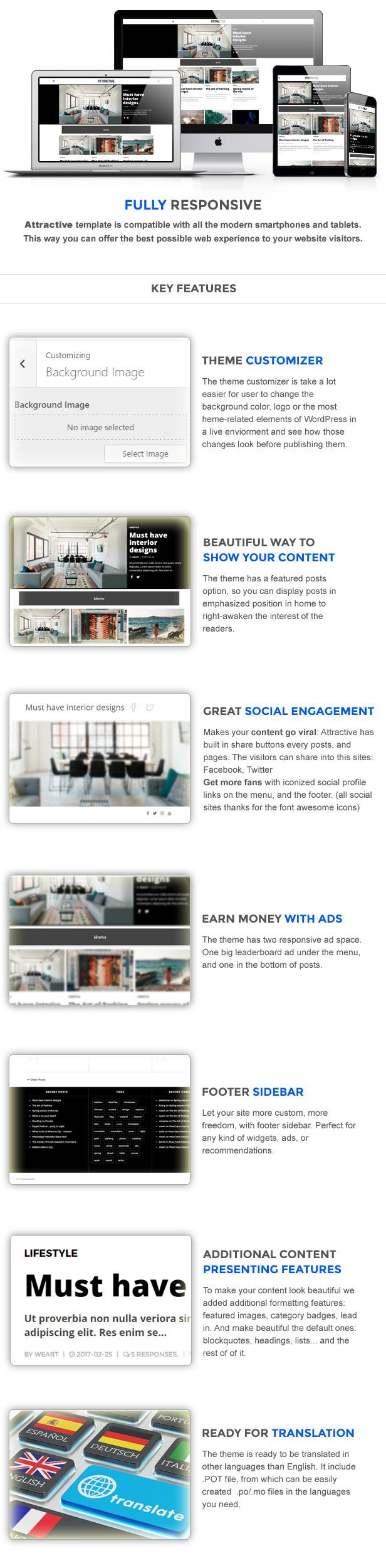 Attractive - Minimalist Magazine WordPress Theme - 2