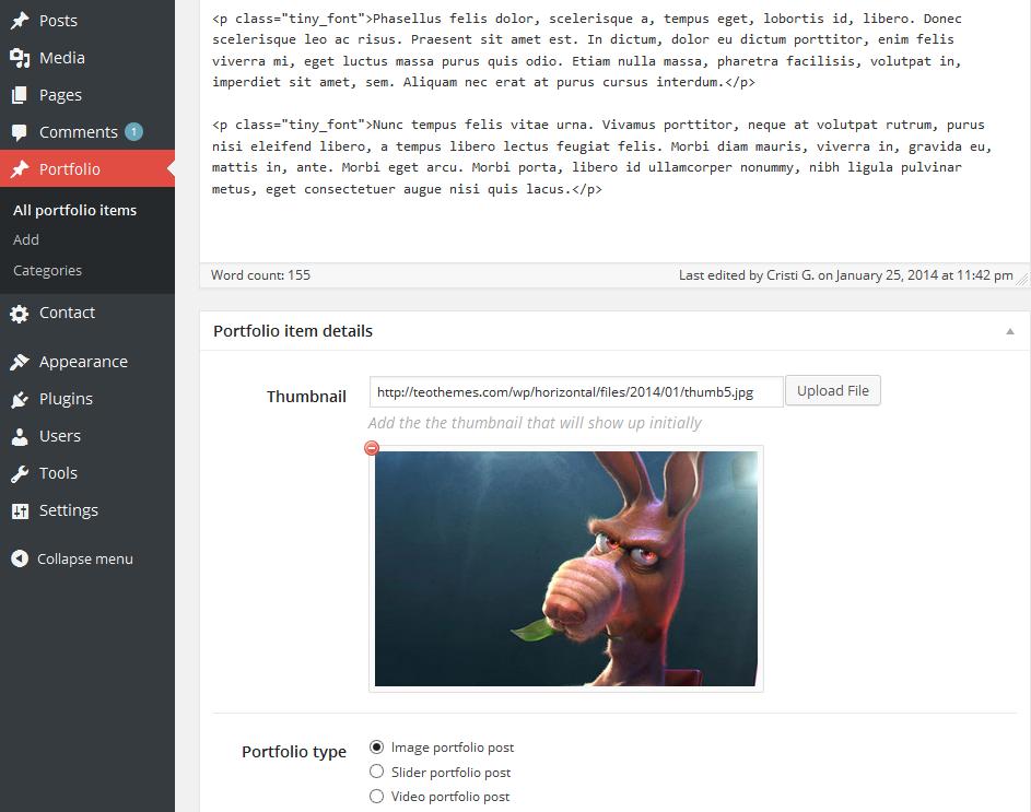 Horizonal - Single Page / One Page WordPress Theme - 7
