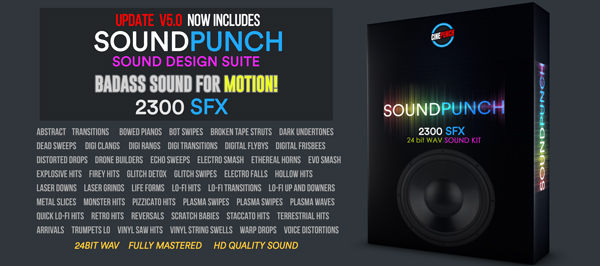 CINEPUNCH (BUNDLE) - Transitions I Color LUTs I SFX - 18 PACKS - 9999+ Assets - 113