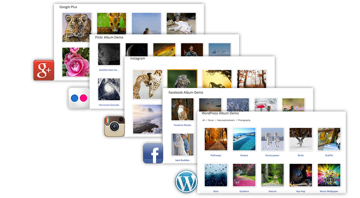 A responsive photo gallery