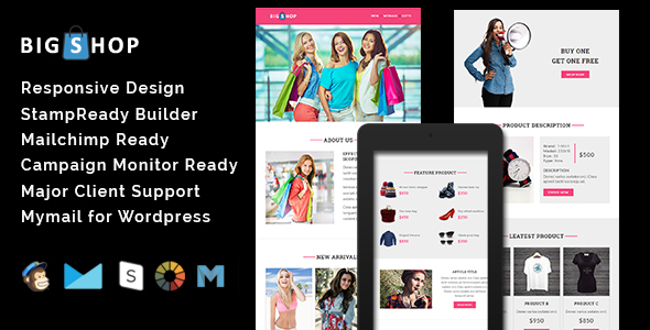 Esteem - Multipurpose Responsive Email Template With Stamp Ready Builder Access - 3