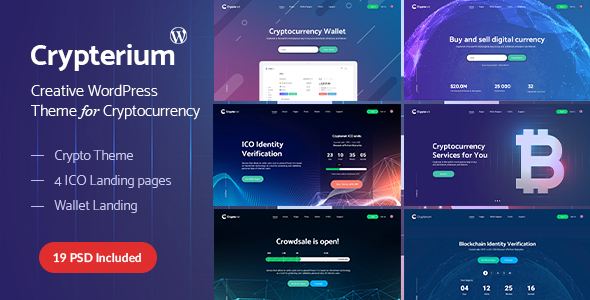 Crypterium - Cryptocurrency -  ICO Landing Page WordPress Theme - Software Technology