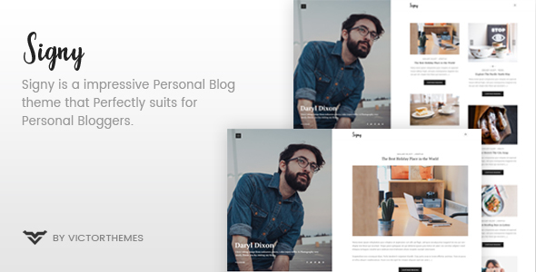 Signy - A Personal Blog WordPress Theme