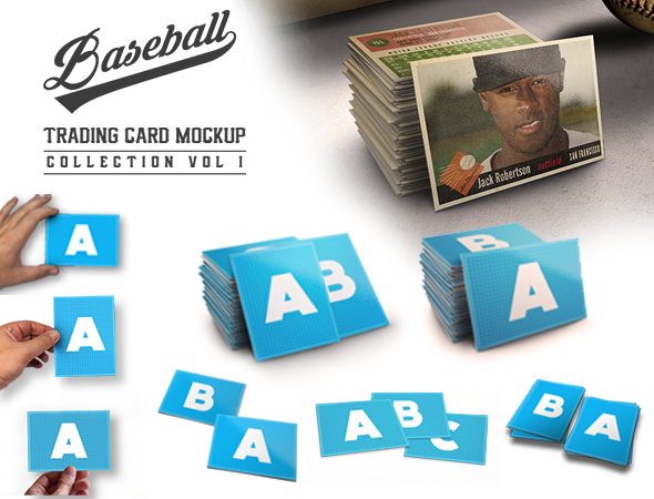 Design Cloud: Baseball Trading Card Mockup Collection