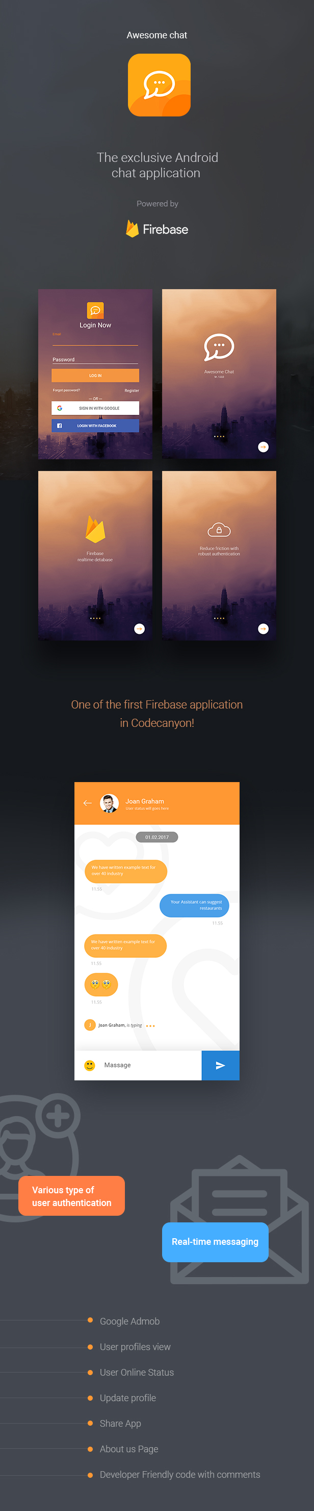 Awesome Chat - Android Firebase Real-time Mobile Application - 3