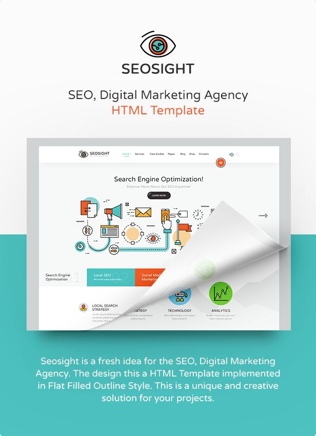 Seosight - SEO, Digital Marketing Agency HTML Template by Crumina ...