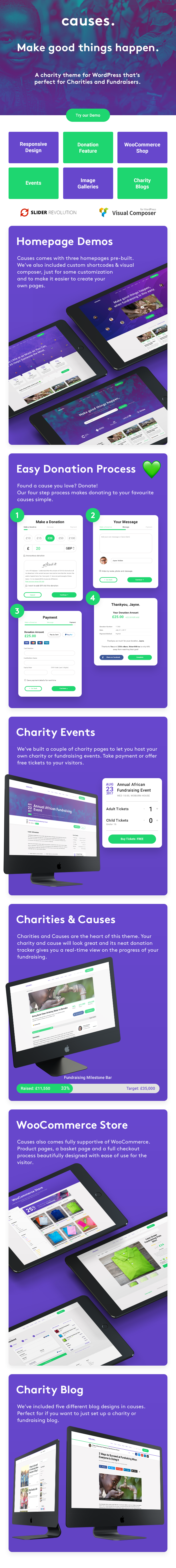 JustGive - Charity & Fundraising WordPress Theme