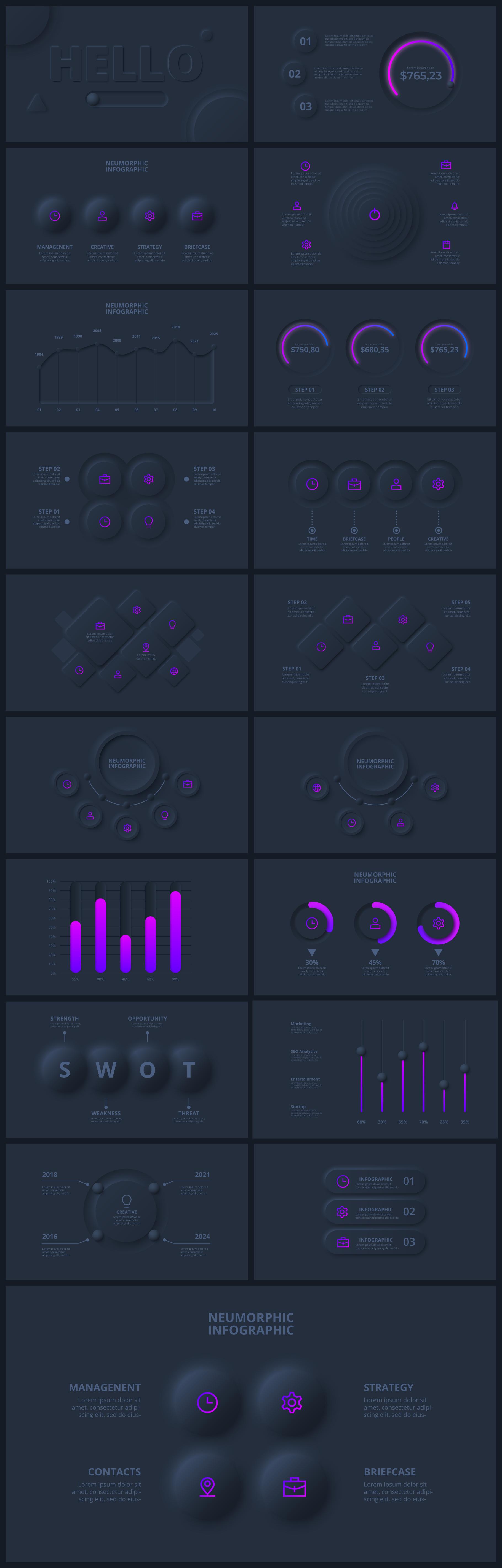 Multipurpose Infographics PowerPoint Templates v.5.0 - 62