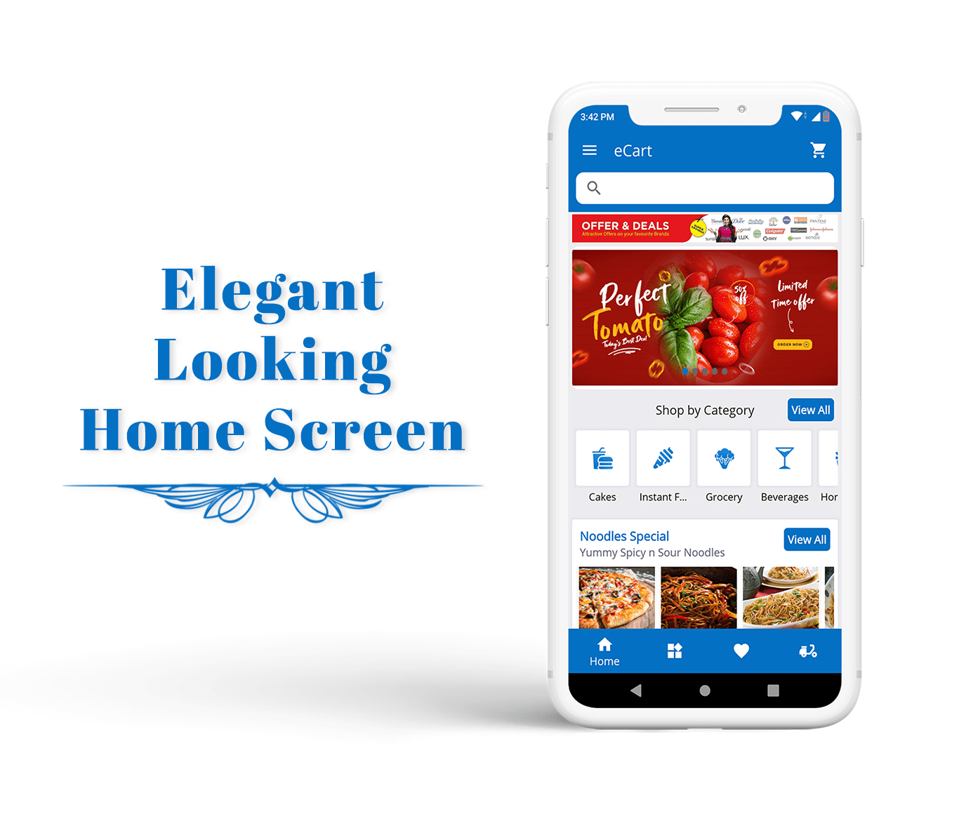 eCart - Grocery, Food Delivery, Fruits & Vegetable store, Full Android Ecommerce App - 6