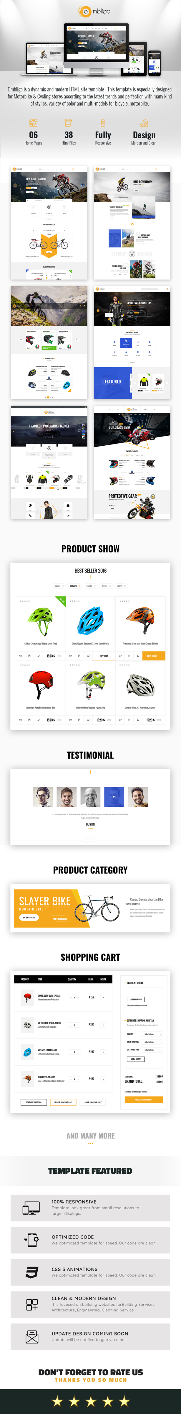 Ombligo Shop - Multi Concept Motor & Cycle HTML Template