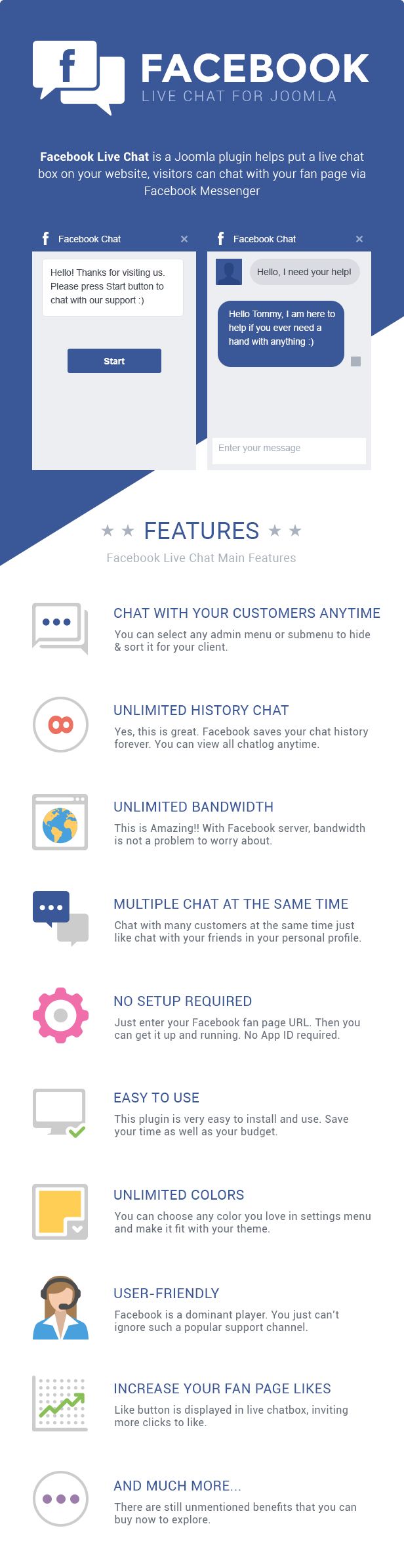 Facebook Live Chat Features