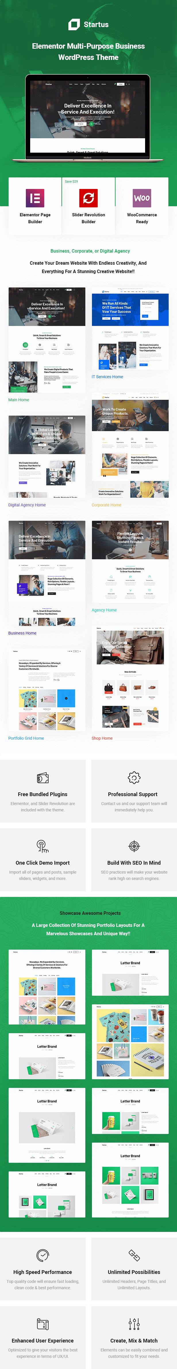 Startus - Multipurpose Business WordPress Theme - 1