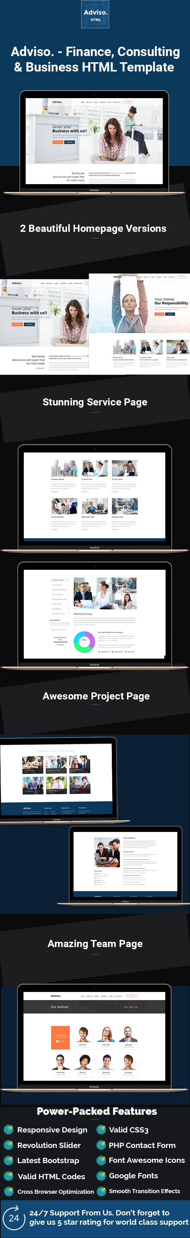 Adviso - Finance, Consulting, Business HTML Template by TheMazine ...
