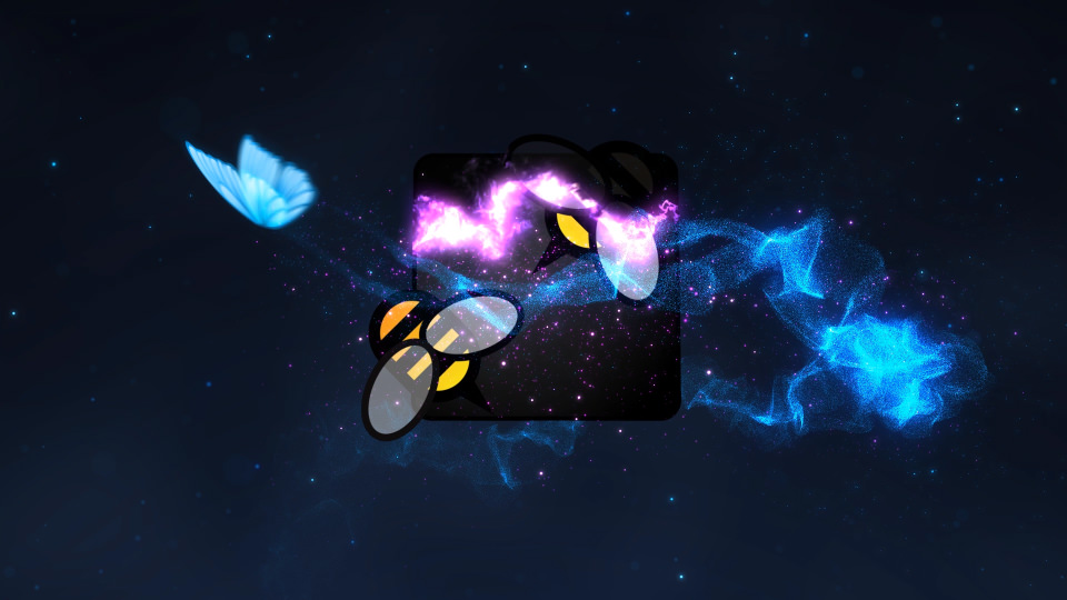 Butterfly Particle Logo - 1