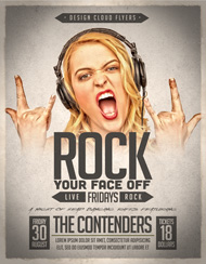 Rock Your Face Off Flyer Template