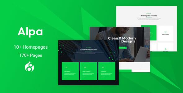 Alpa - Responsive MultiPurpose Drupal 8 Theme | Business