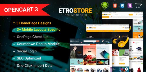 EtroStore - Responsive & Multi-Purpose HTML5 Template - 1