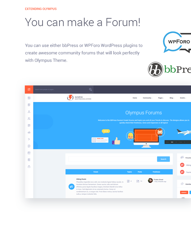 Make forum with WP
