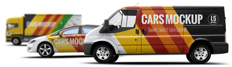 Vehicle Wraps Mock Up The Best Works In Automotive Topics Collection Includes Almost Complete List Of Vehicles For Your Design