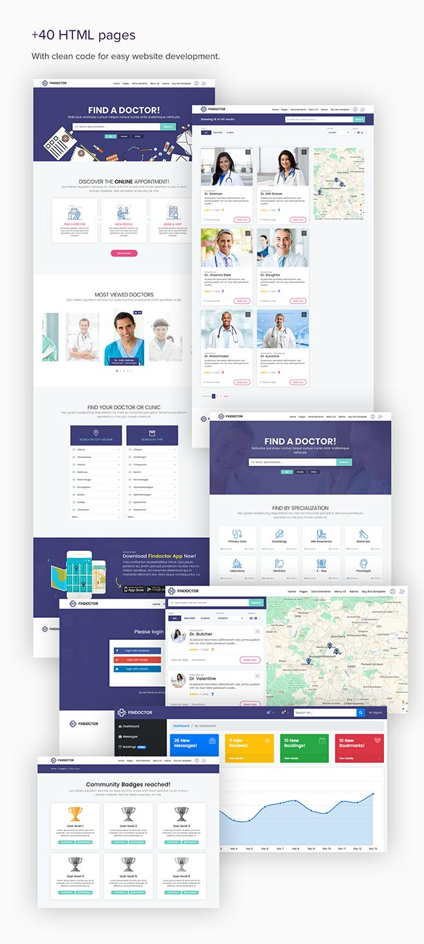 FINDOCTOR - Doctors directory and Book Online template by Ansonika