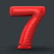 Animation of 3D inflating balloon numbers