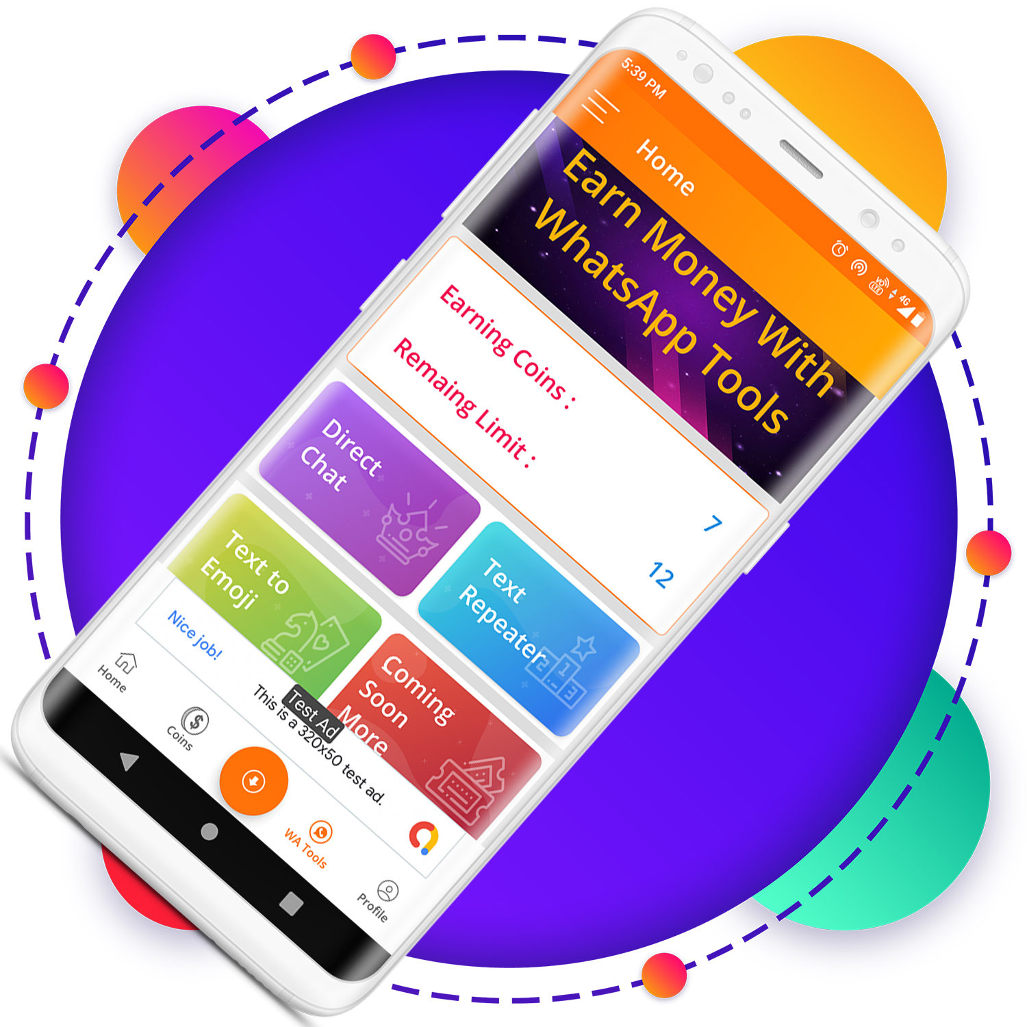 QuickCash All In One Money Earning Android App + Games + WhatsApp Tools + Earning System Admin Panel - 11