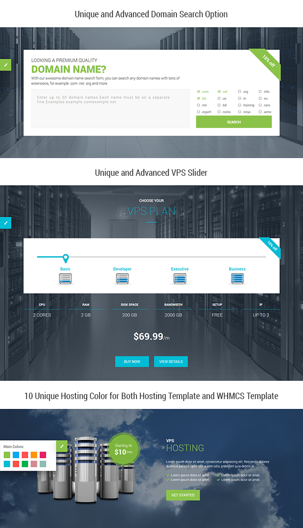 OrDomain   Responsive HTML5 WHMCS Hosting Template by themelooks ...