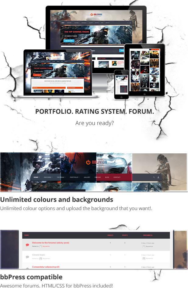 Oblivion - The Multi-Purpose Gaming Template - 2